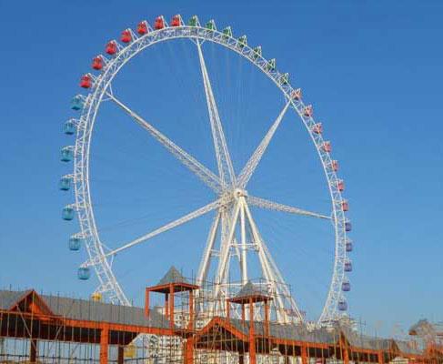 giant vintage ferris wheel ride