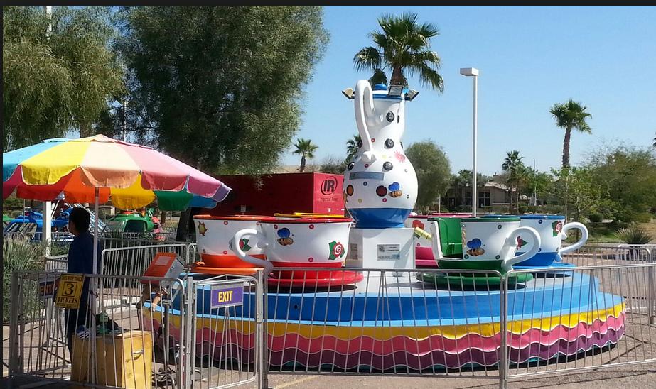 Amusement Park Tea Cup Rides