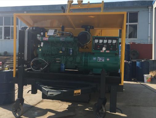 Trailer pump for concrete