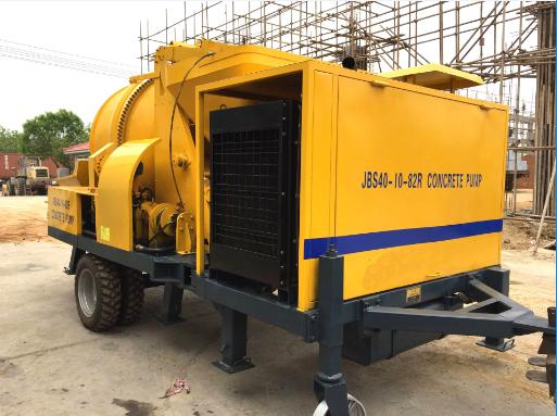 High quality concrete trailer pumps