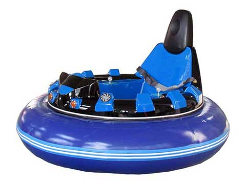 Blue Inflatable Bumper Cars