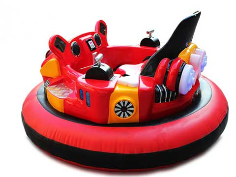 Red Inflatable Bumper Cars